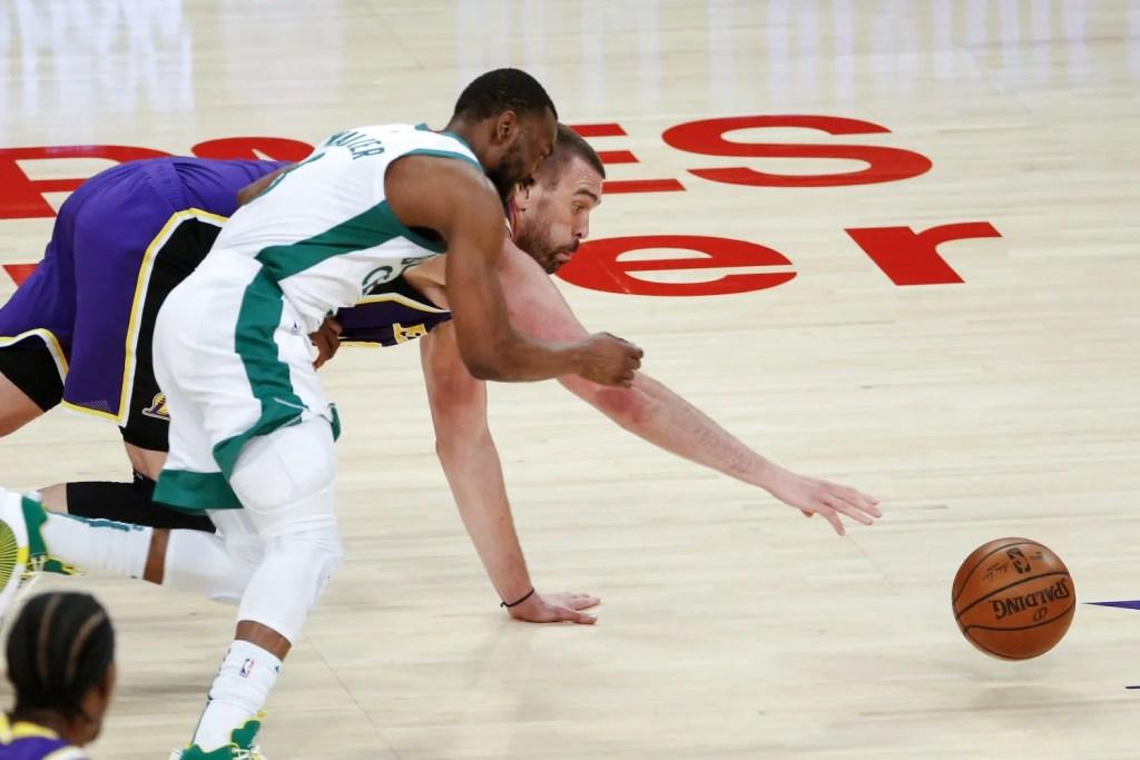 Marc Gasol and Kemba Walker, Los Angeles Lakers vs Boston Celtics