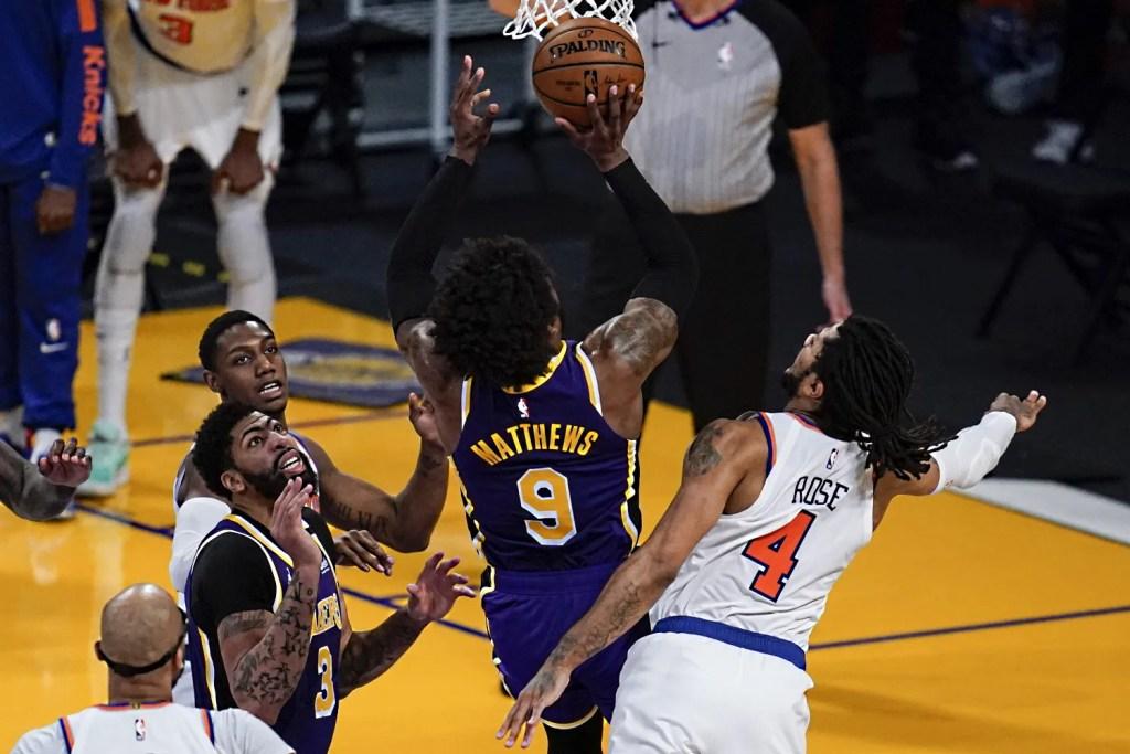 Wesley Matthews, Los Angeles Lakers vs New York Knicks