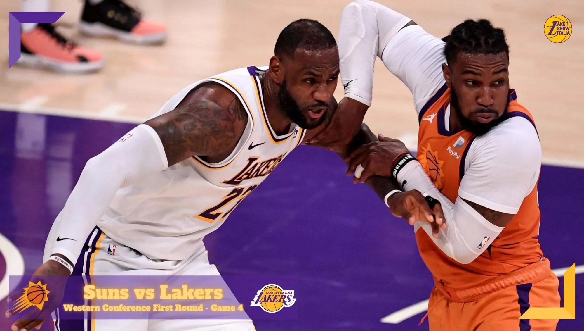 I Phoenix Suns passano in casa dei Los Angeles Lakers e pareggiano la serie. Apprensione per Davis, infortunatosi all'inguine nel primo tempo.