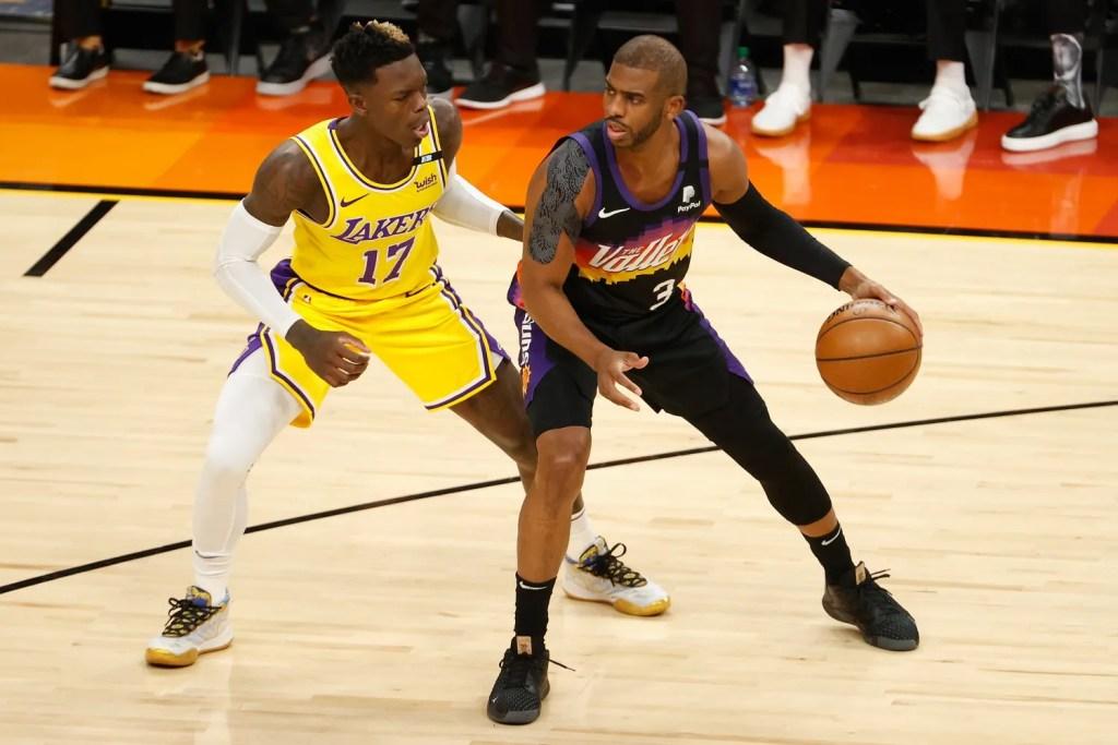Chris Paul and Dennis Schröder, Los Angeles Lakers vs Phoenix Suns