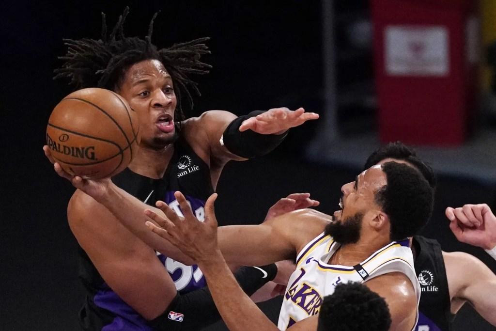 Talen Horton-Tucker and Freddie Gillespie, Los Angeles Lakers vs Toronto Raptors