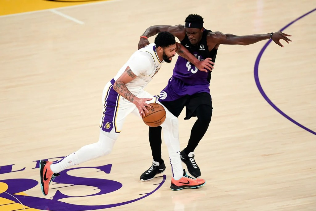 Anthony Davis and Pascal Siakam, Los Angeles Lakers vs Toronto Raptors