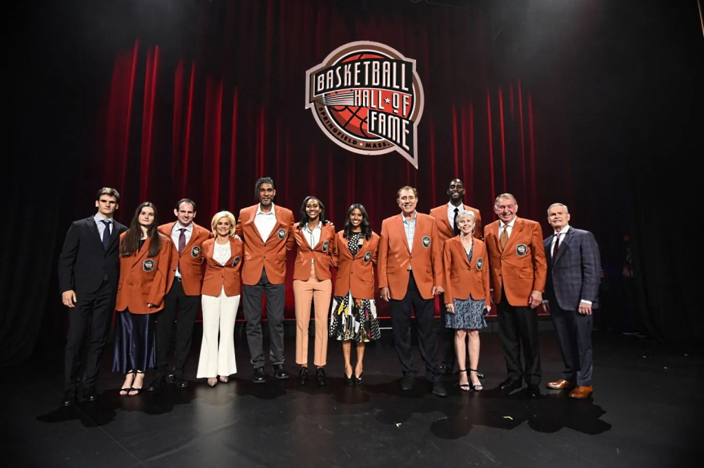 2020 Basketball Hall of Fame Enshrinement Ceremony on May 14, 2021 at the Mohegan Sun Arena at Mohegan Sun in Uncasville, Connecticut.