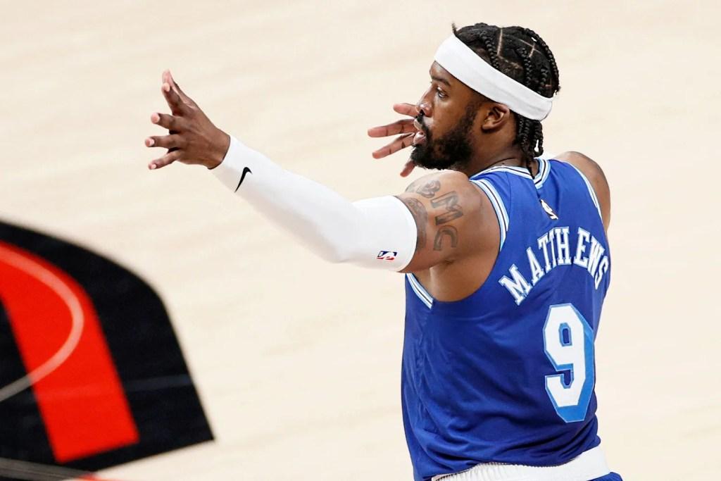 Wesley Matthews, Los Angeles Lakers vs Portland Trail Blazers
