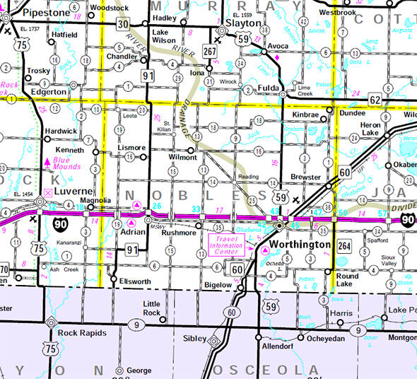 Named For William H Nobles A Member Of The Minnesota Territorial Legislature It Is The Only Nobles County In The U S