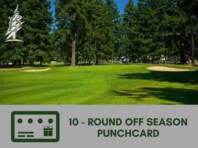 10 Round Off Season Punch Card