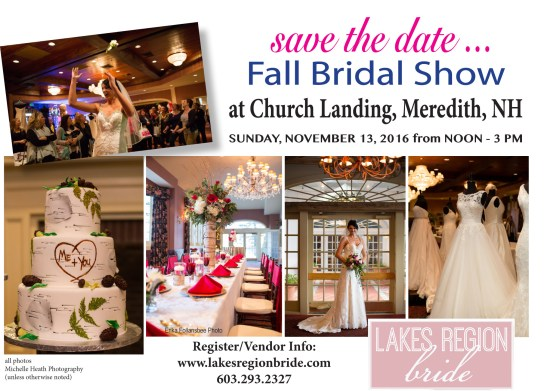Save the Date for Fall Bridal Show!