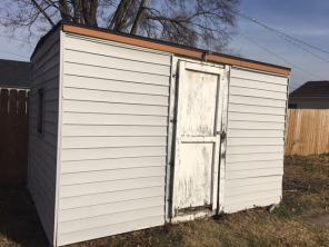 Storage shed as is