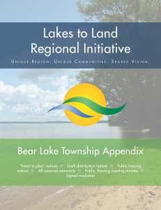 Bear Lake Township Appendix Documentation (12MB)