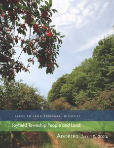 Tab 4: Joyfield Township People and Land (6MB)
