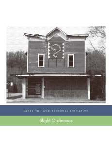 L2L Blight Ordinance