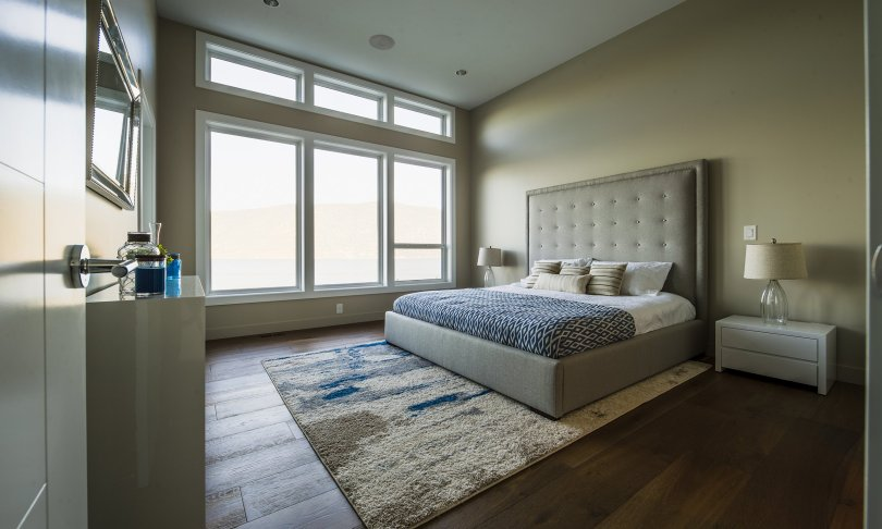 Master Bedroom With Expansive Windows