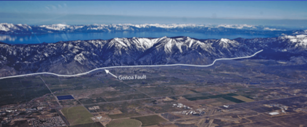 The Genoa fault is one of many near Lake Tahoe. Photo/Provided