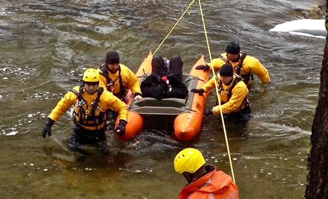 After running from law enforcement, the SAR team rescued two suspects.Running from law esubjects who suffered hypothermia and other cold related illnesses. Photo/Provided