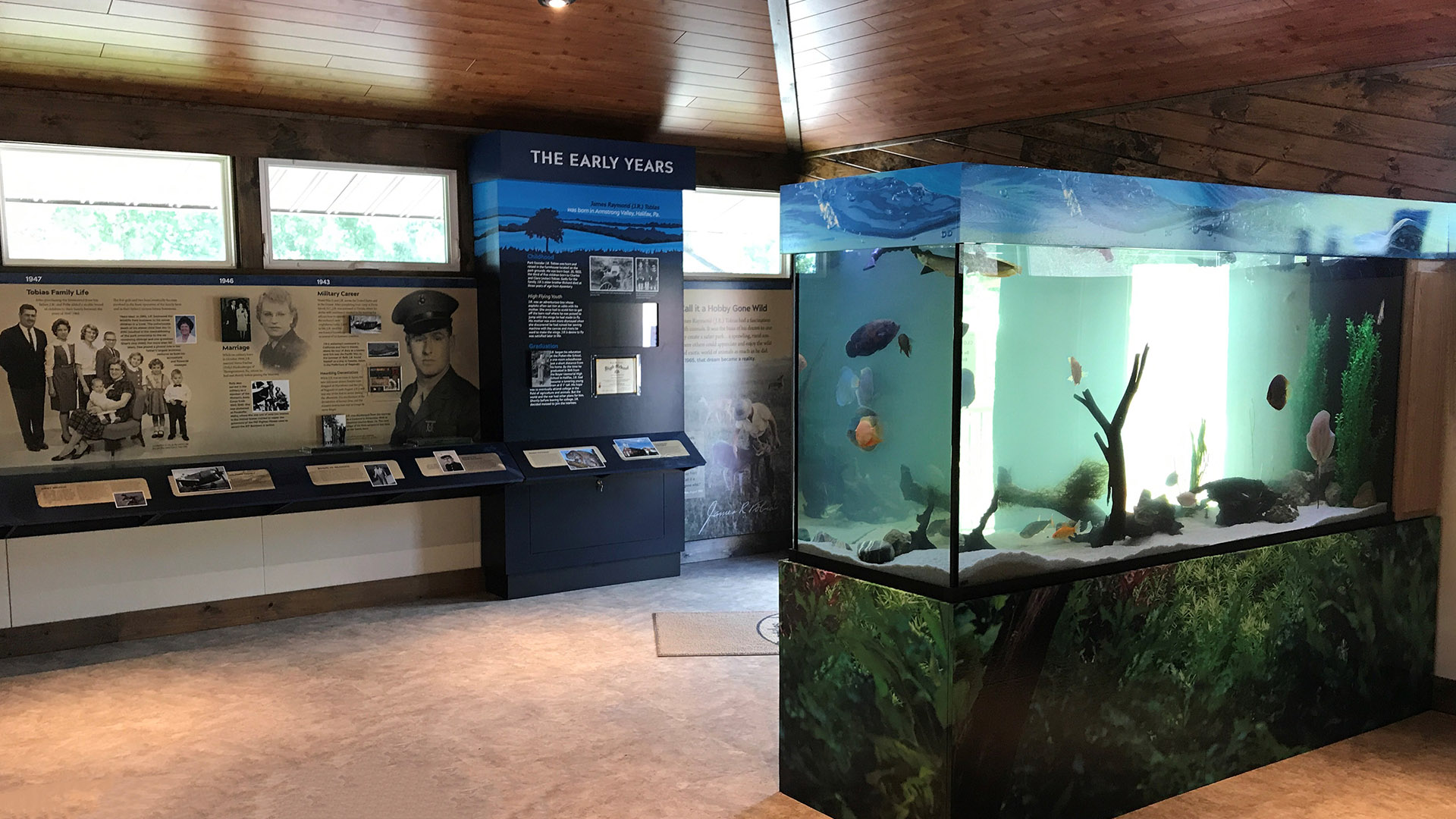 Exhibits at J.R. Tobias Museum and Education Center