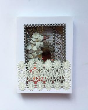 Ash theme Merry Christmas Card with box