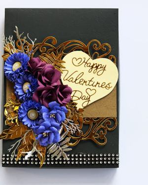 Happy valentines day Card with box