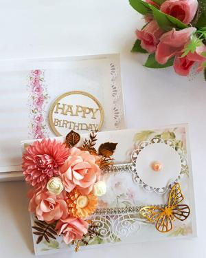 Birthday gifts for her | Cute Floral Handmade Unique Card For her birthday | Fancy Greeting Card