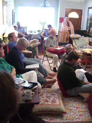 Participants of the retreat of the Lakshmanjoo Academy