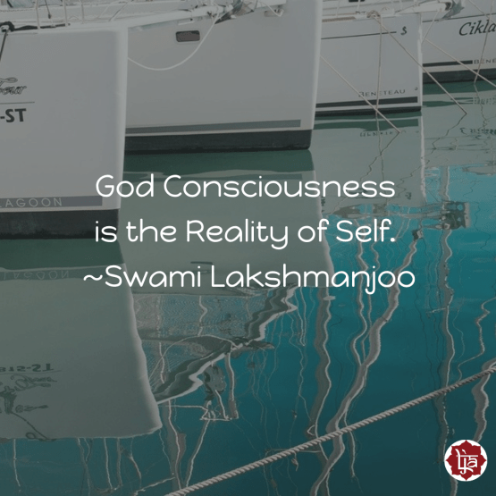 God Consciousness is the Reality of Self. ~Swami Lakshmanjoo