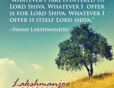brahmaparnam prayer for eating, Bhagavad Gita, Abhinavagupta, Swami Lakshmanjoo
