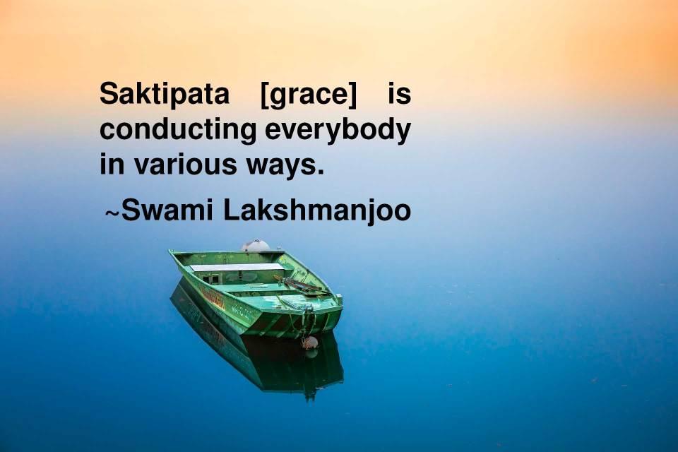 Śaktipāta [grace] is conducting everybody in various ways ~Swami Lakshmanjoo