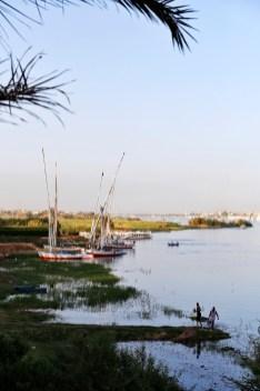 Aanzicht van de Nijl vanaf Banana Island