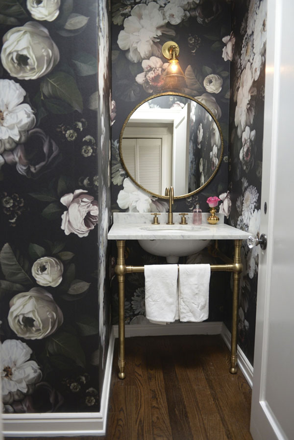 floral-powder-room