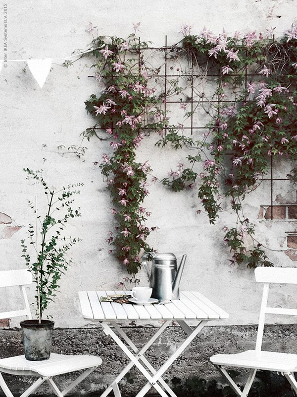 la la loving flowers on walls