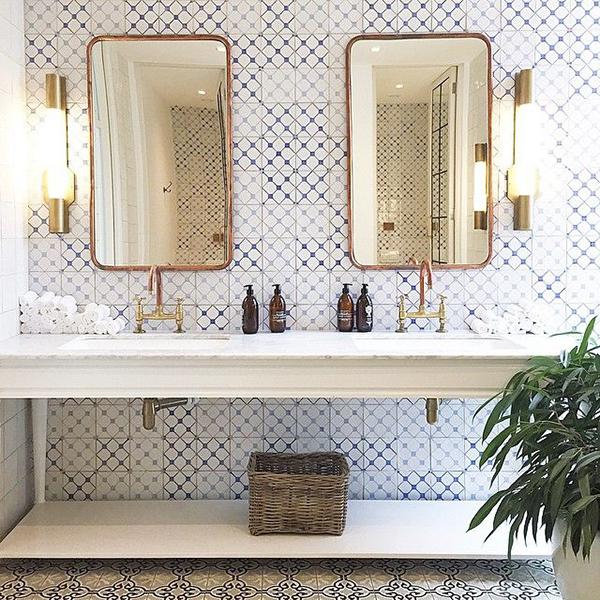 Brass Fixtures #bathroom