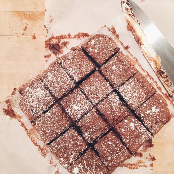 Nutella Brownie Recipe via La La Lovely