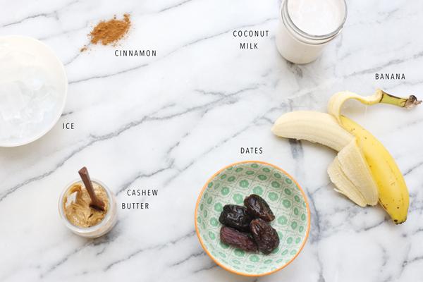 Date Shake Smoothie Recipe | La La Lovely Blog