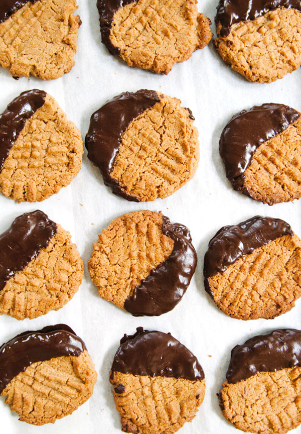 La La Loving Chocolate Dipped Peanut Butter Cookies