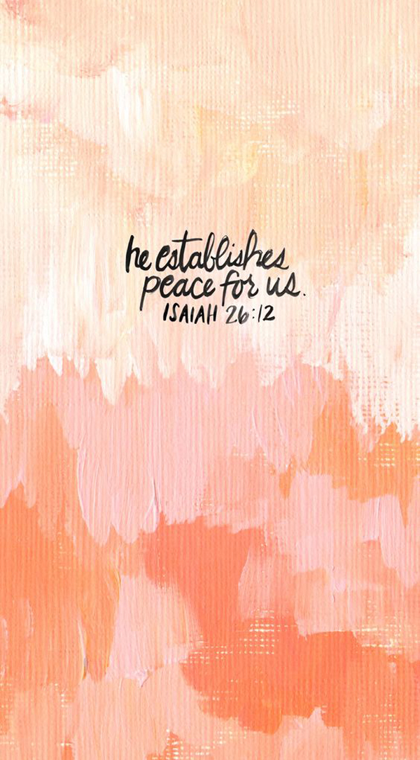 He establishes peace for us