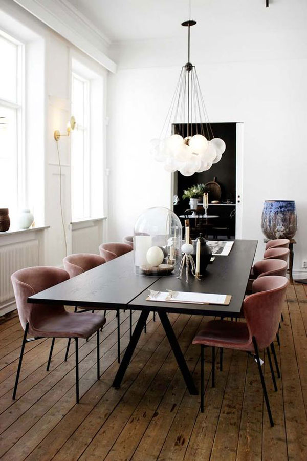 Velvet Dining Chair Trend | La La Lovely