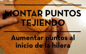 MONTAR PUNTOS TEJIENDO