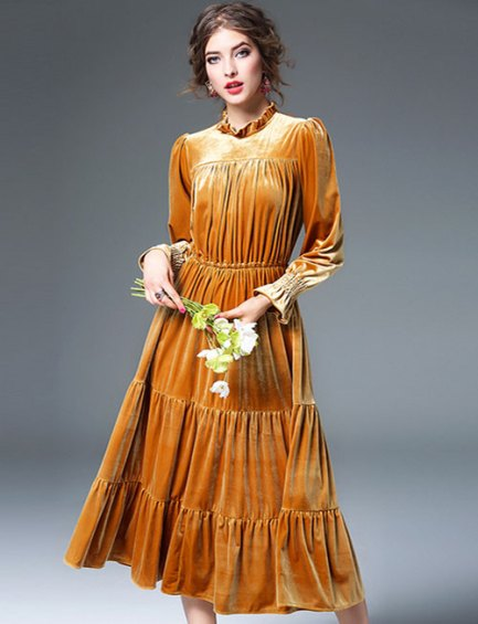 vestido de veludo 2017 21