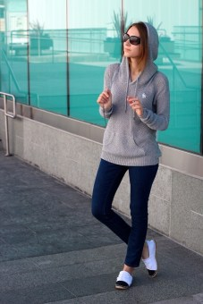 Diana Marks Hoodie Sweater Abercrombie and Chanel Espadrilles LA by Diana
