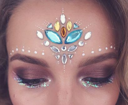 make carnaval com aplique de strass cristais festival 2