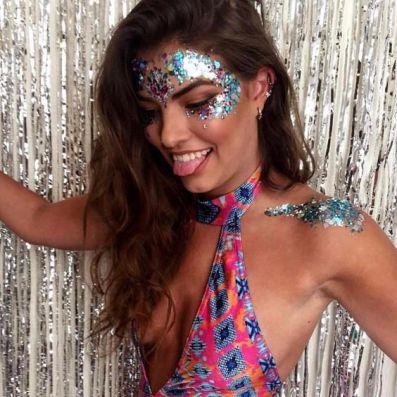 make carnaval com aplique de strass cristais festival 7
