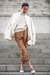5.-Chunky-Sweater-With-Jacket-And-Brown-Pants