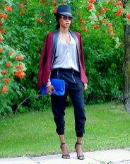 burgundy-blazer-zipper-pants-ootd