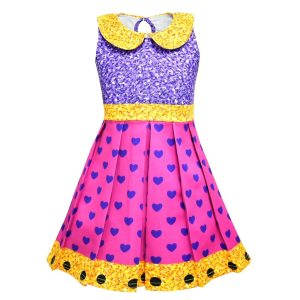 Girls Lol Dress Birthday Party Dress Cosplay Costume