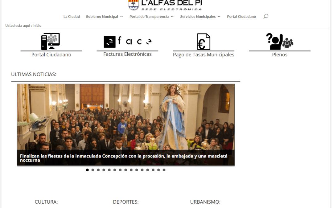 Entra en funcionamiento el Portal de Transparencia del Ayuntamiento de l'Alfàs del Pi