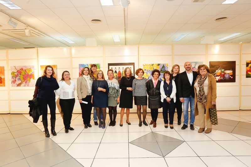 Exposición colectiva de Crearte Albir en la casa de cultura