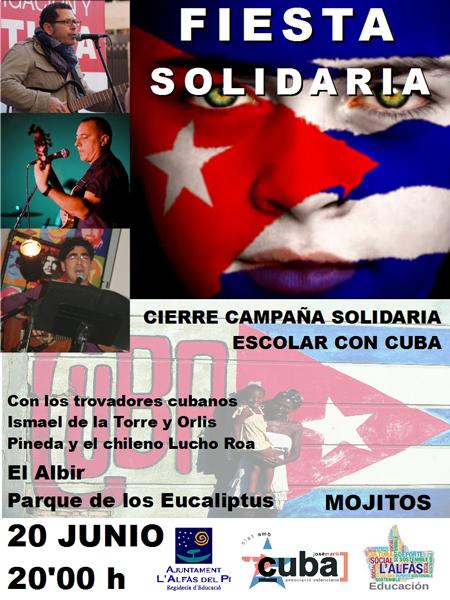 El parque de los Eucaliptos acoge este sábado una fiesta solidaria de amistad con Cuba