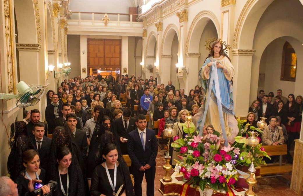 Finalizan las fiestas de la Inmaculada Concepción con la procesión, la embajada y una mascletá nocturna