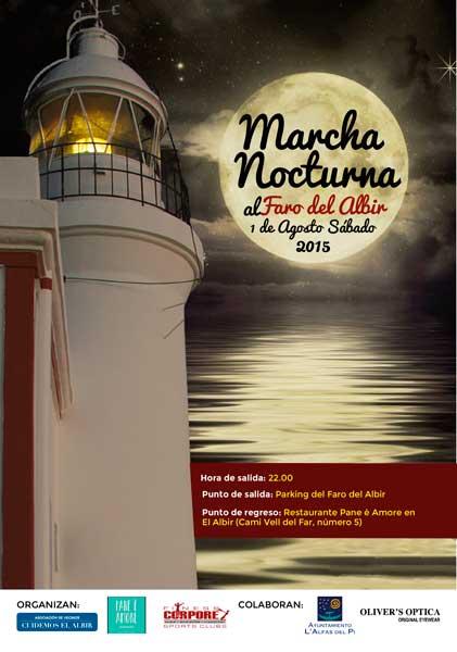 Primera marcha nocturna al Faro de l'Albir el sábado 1 de agosto