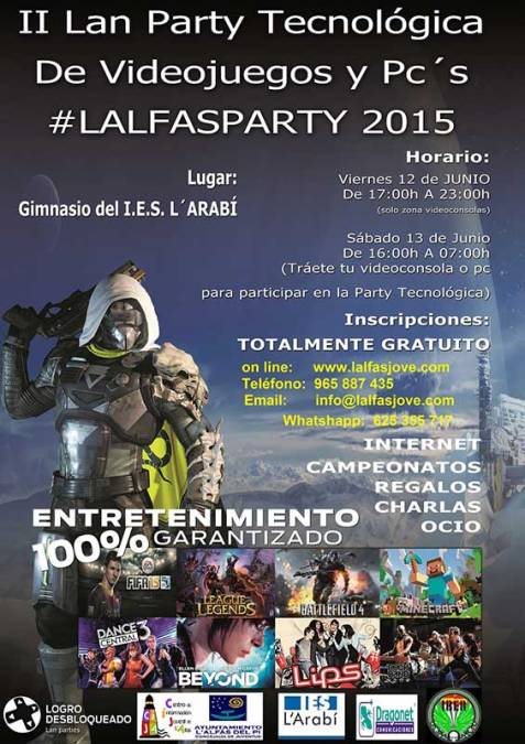 2ª Party Tecnológica de videoconsolas y ordenadores conocida como #LALFAS PARTY 2015