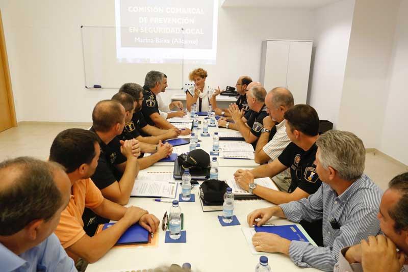 L'Alfàs acoge la 17 Junta de Seguridad de la Marina Baixa